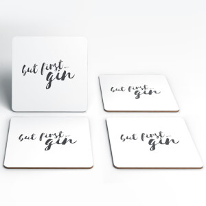 'But First…Gin' Coasters