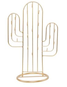 Sass & Belle Gold Cactus Jewellery Stand