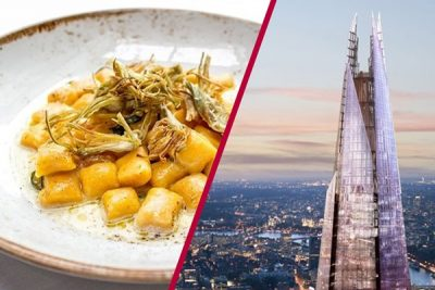 View From The Shard 3 Course Dinner For Two