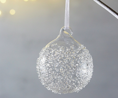 Flecked Glass Baubles