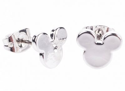 White Gold Mickey Mouse Earrings