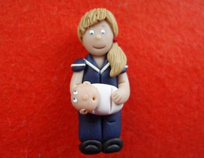 Personalised Midwife Badge