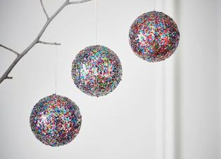 Large Glitter Baubles