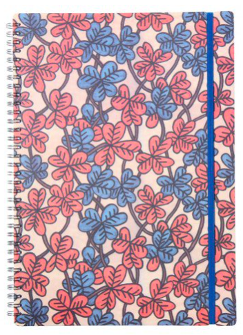 A4 Bold Floral Notebook