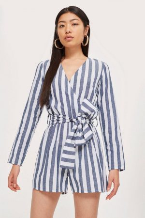 Long Sleeve Wrap Playsuit
