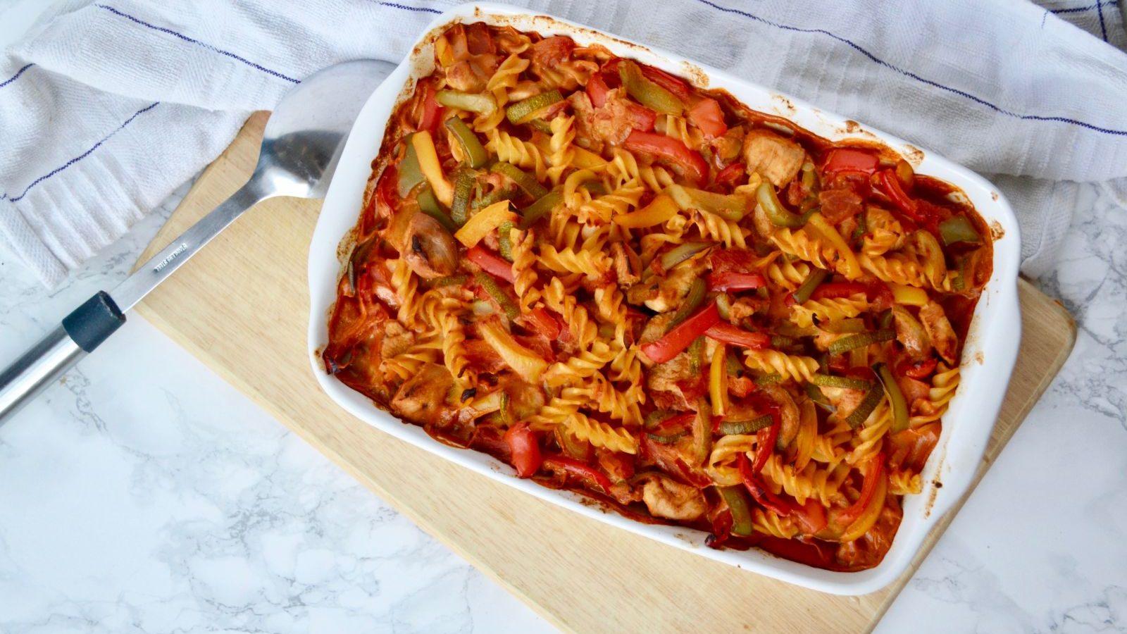 Recipe: Fajita Chicken Pasta Bake